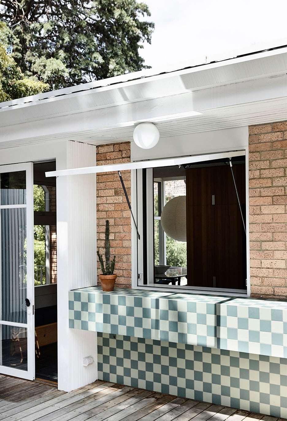 tiled outdoor bar