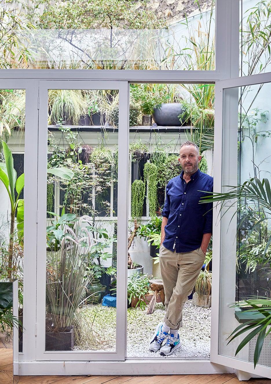 Jean-Christophe Aumas at home in Paris