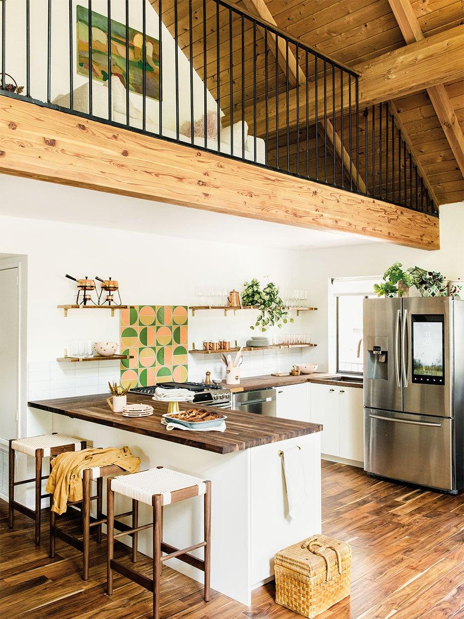 retro a frame kitchen cabin