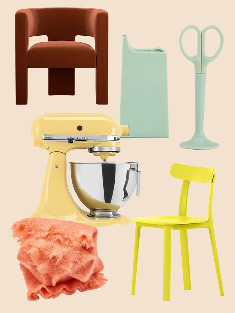 colorful decor products collage