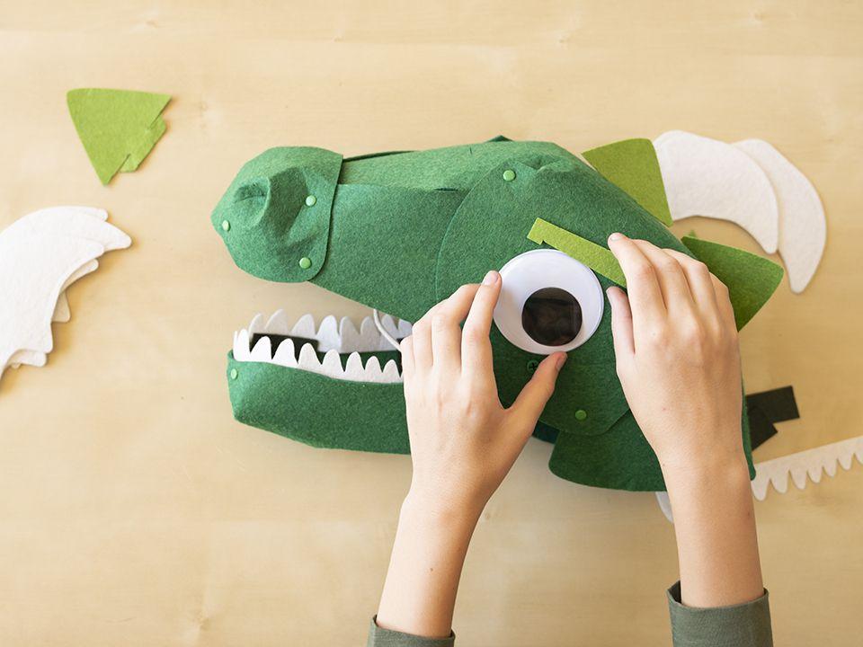 dinosaur head mask
