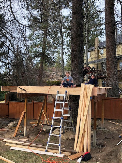 treehouse being built