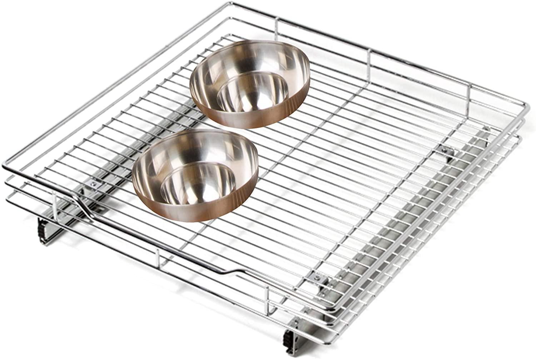 Smart Design 1-Tier Shelf Pull-Out Cabinet Organizer