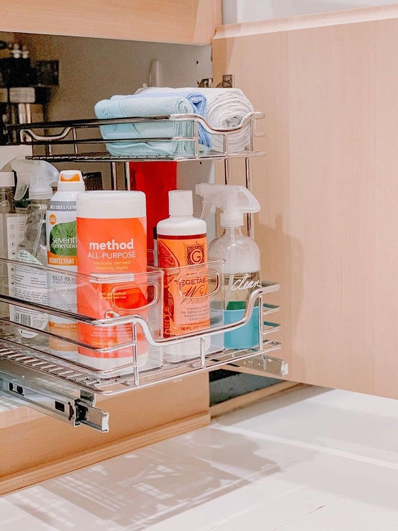organized under sink area