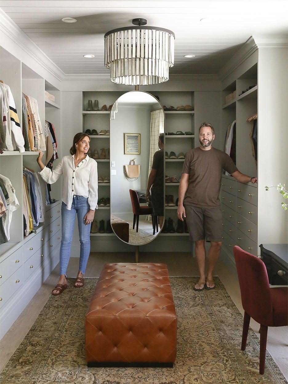 Chris Loves Julia in their walk-in closet