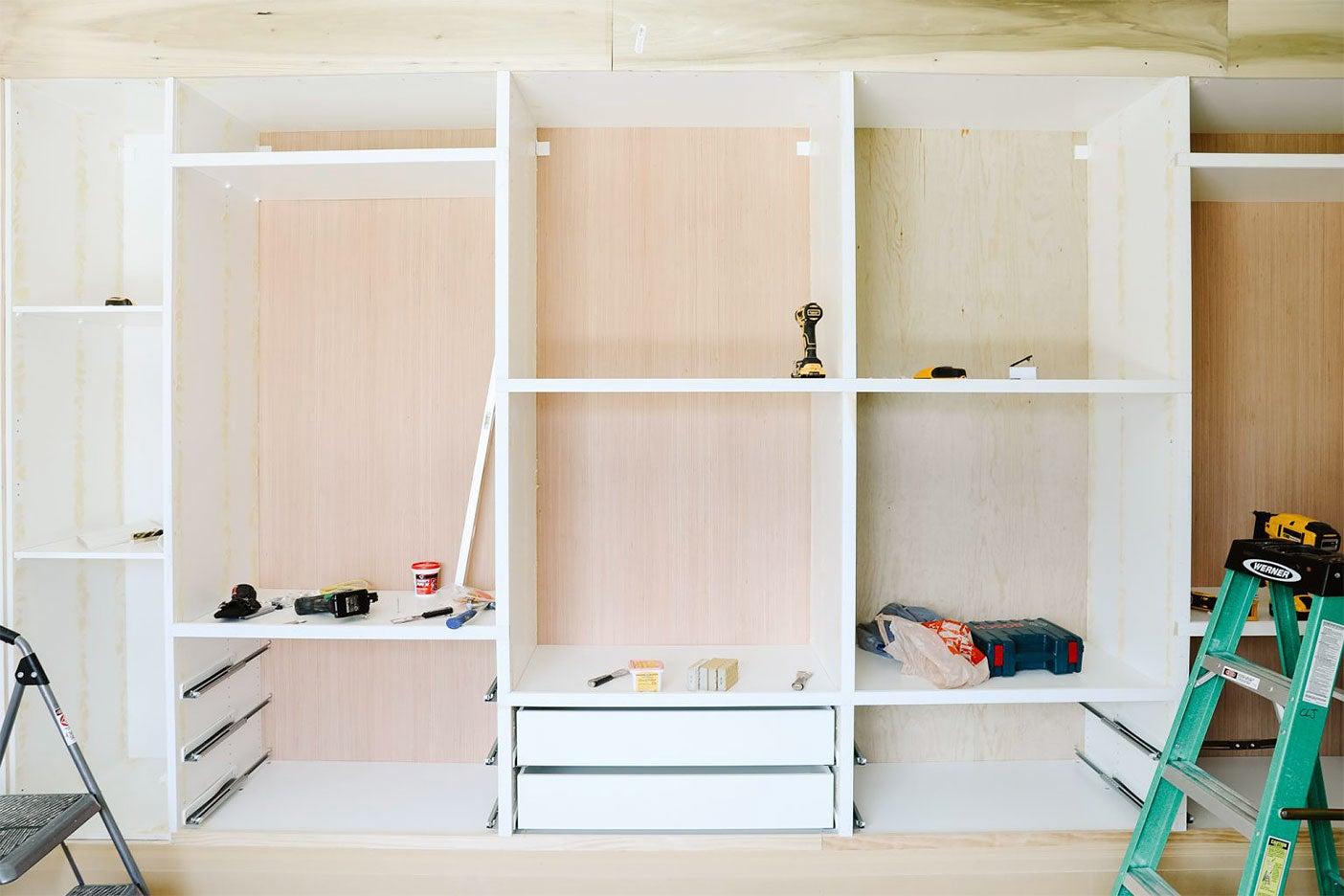 IKEA Pax closet hack process