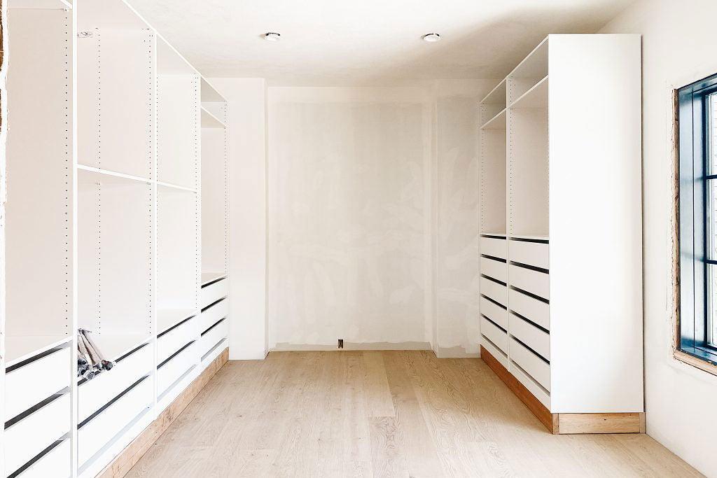 IKEA Pax closet progress