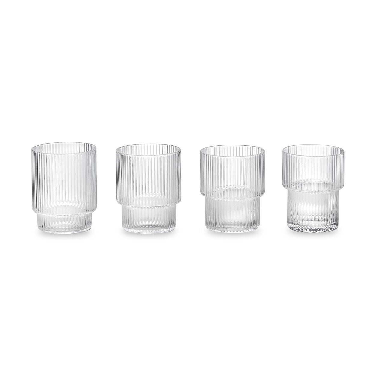 Ripple Stacking Glasses