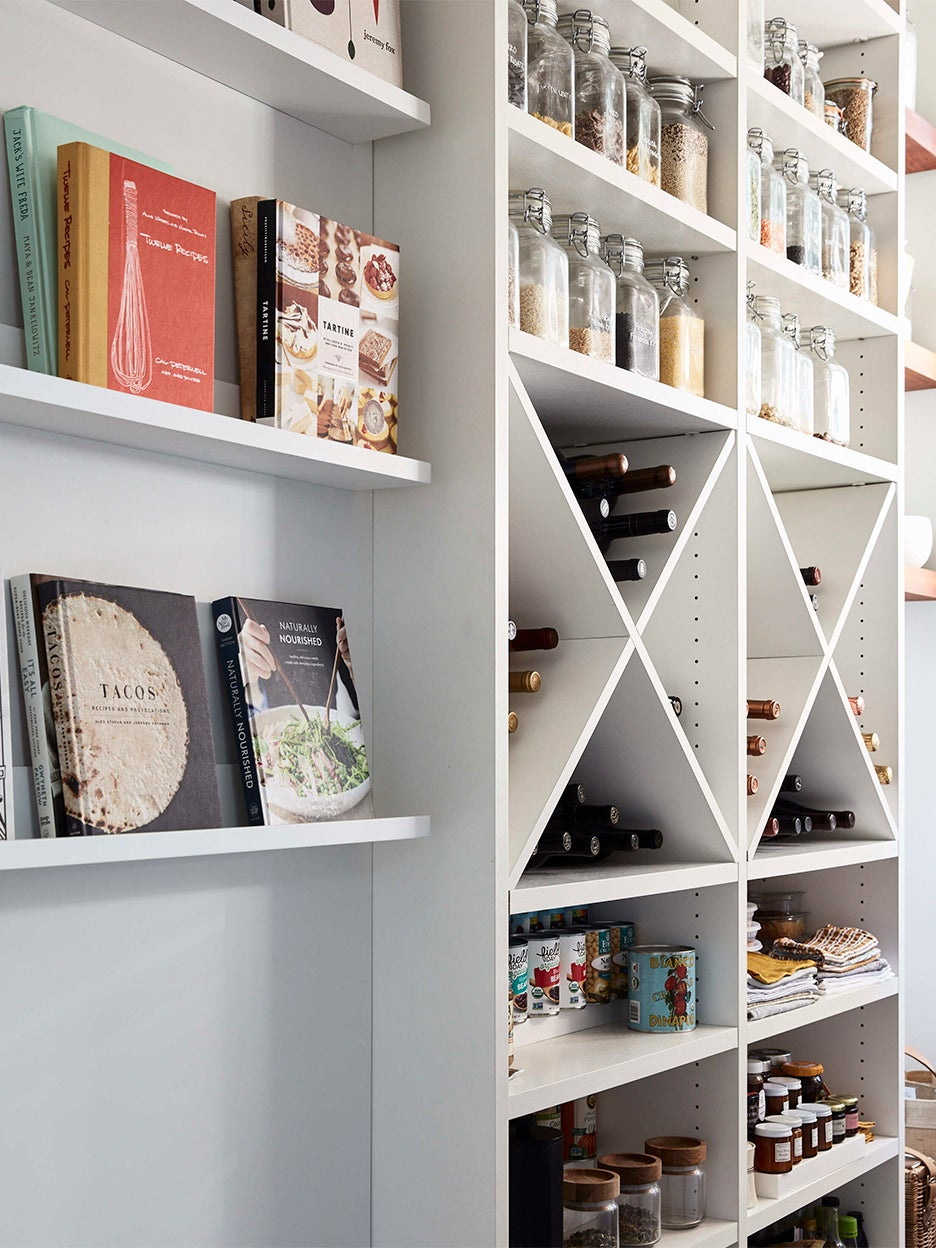 Pantry with wine rack
