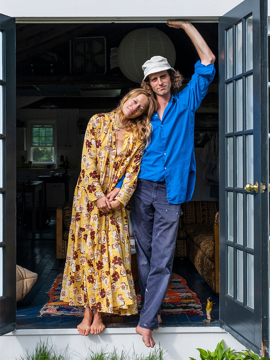 man and woman in doorway