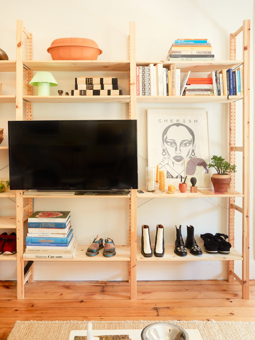 IKEA Ivar bookshelf with TV