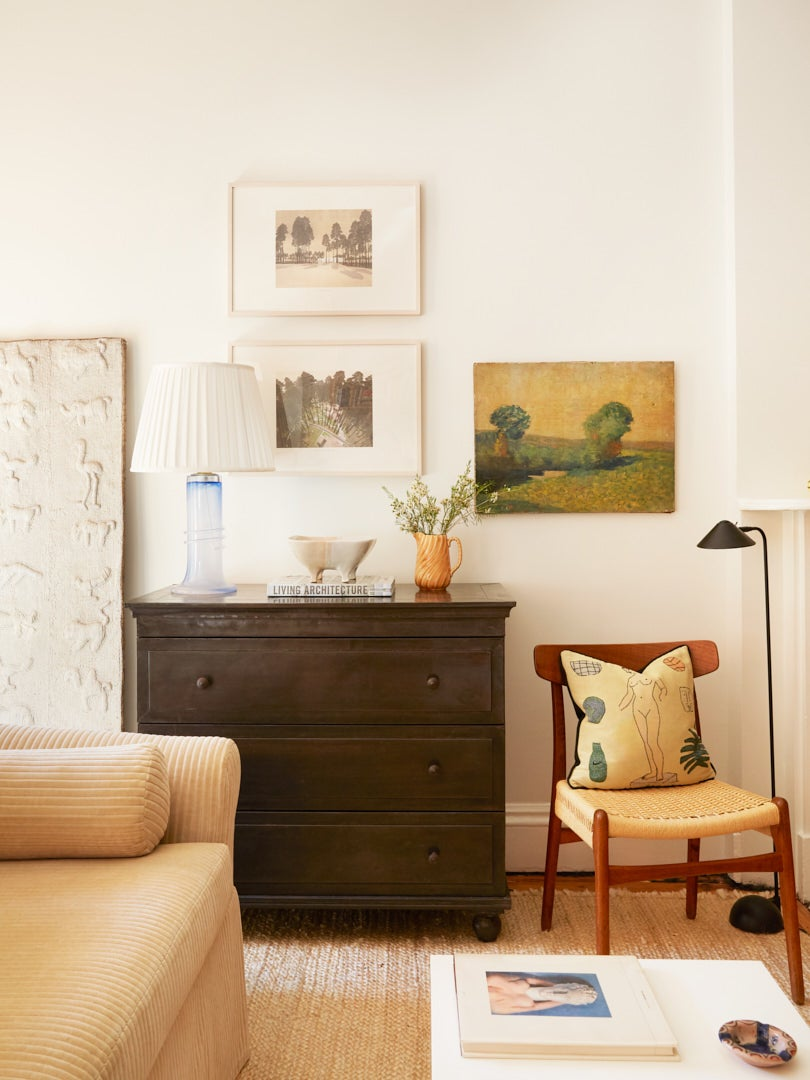 Gallery wall in Brooklyn brownstone apartment