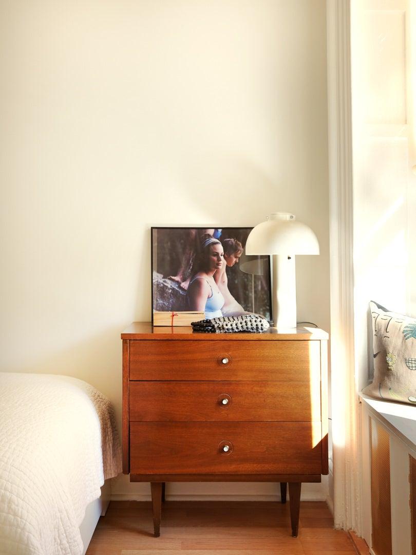 Vintage dresser in Brooklyn brownstone apartment