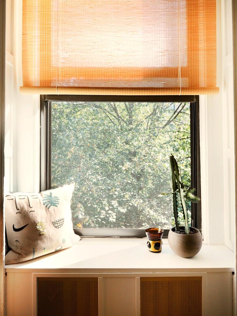 Window seat in Brooklyn brownstone apartment