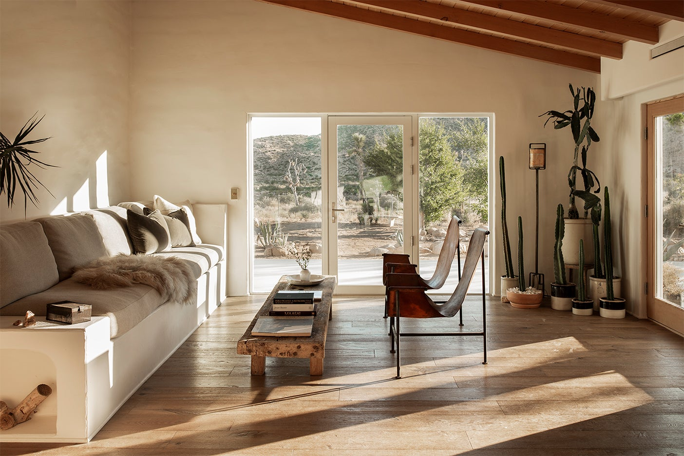 minimalist desert living room