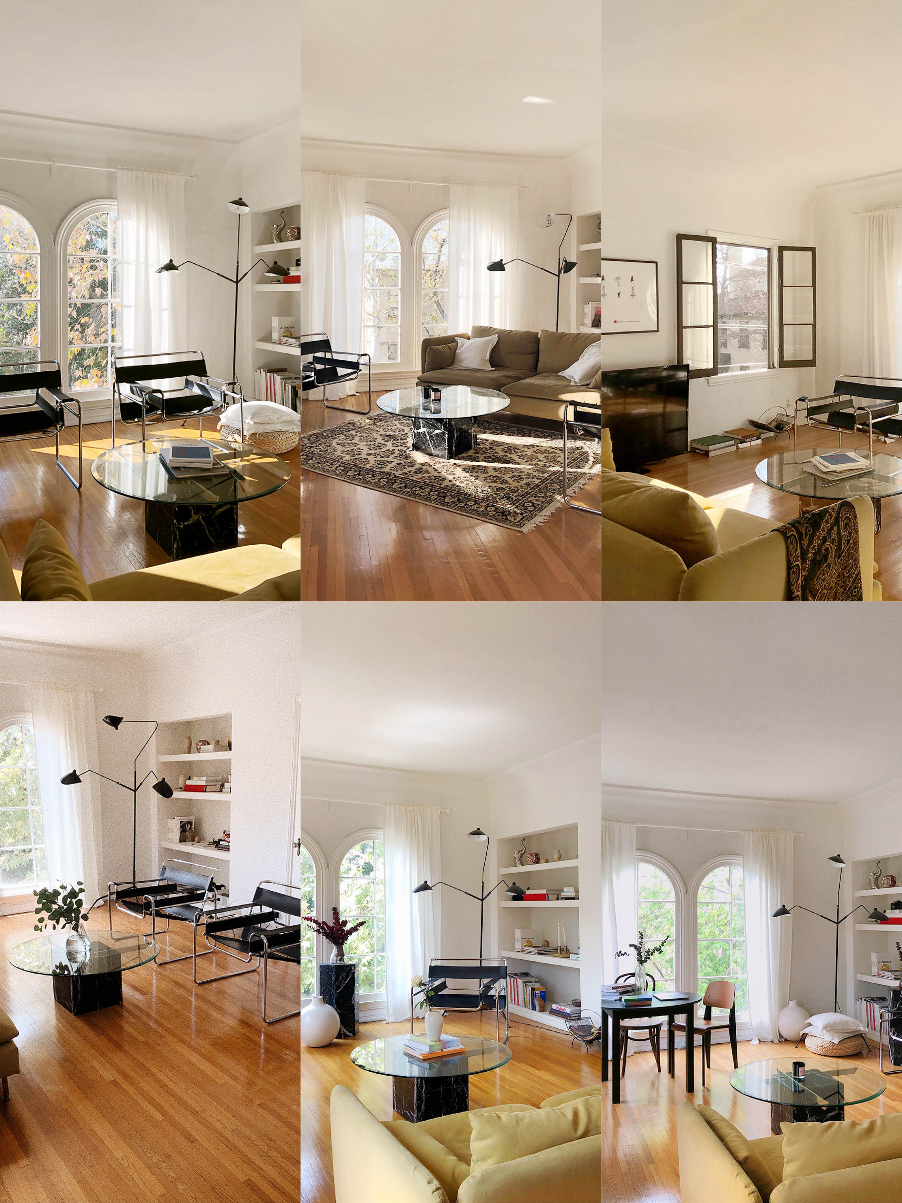 One Living Room, 6 Ways, All With the Same Furniture