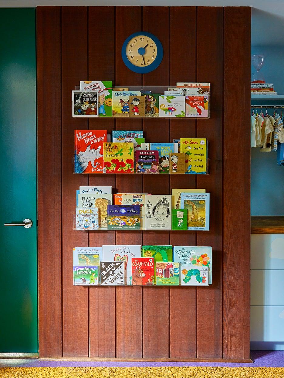 book shelf on wall