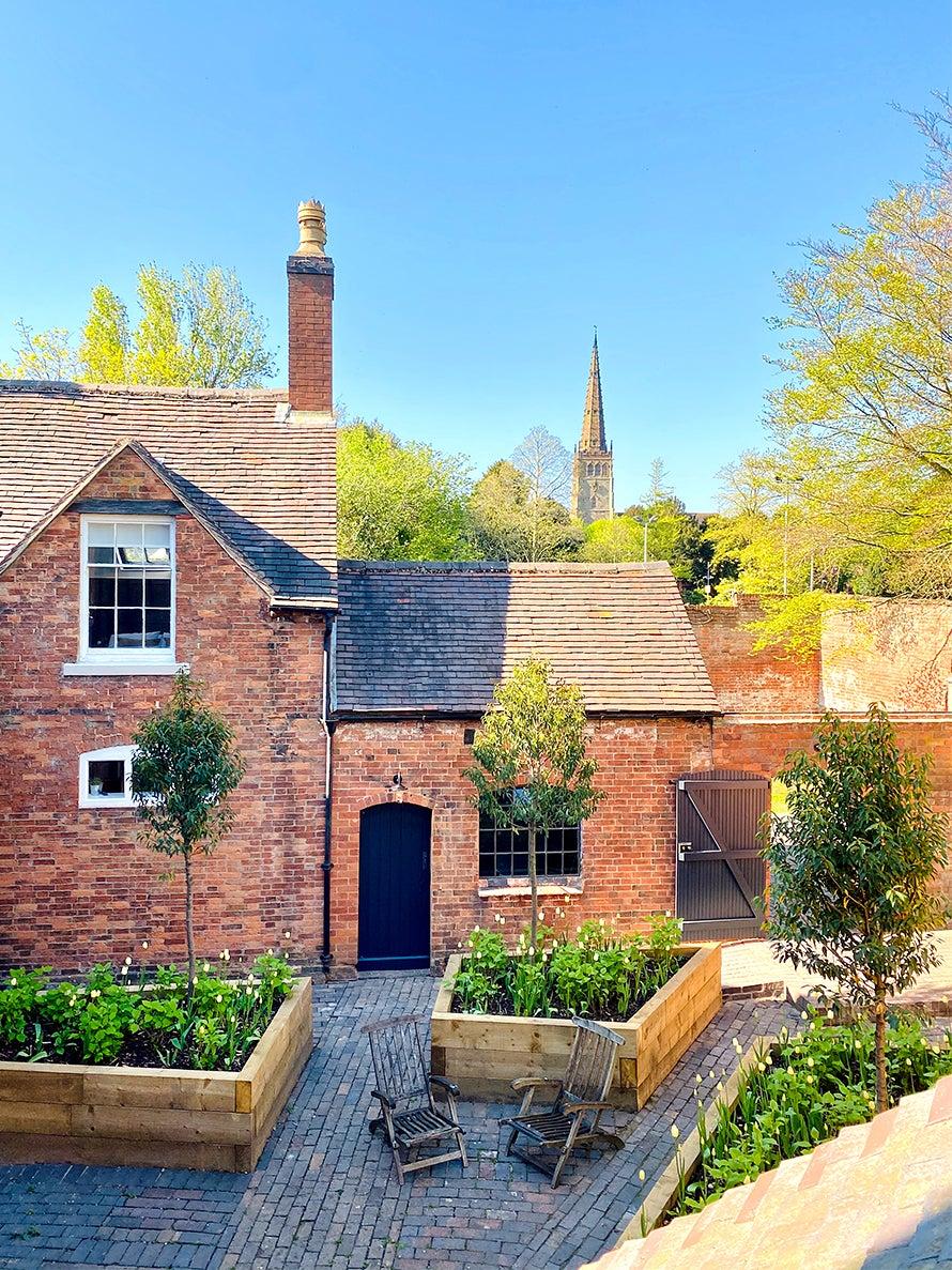 Small British estate courtyard