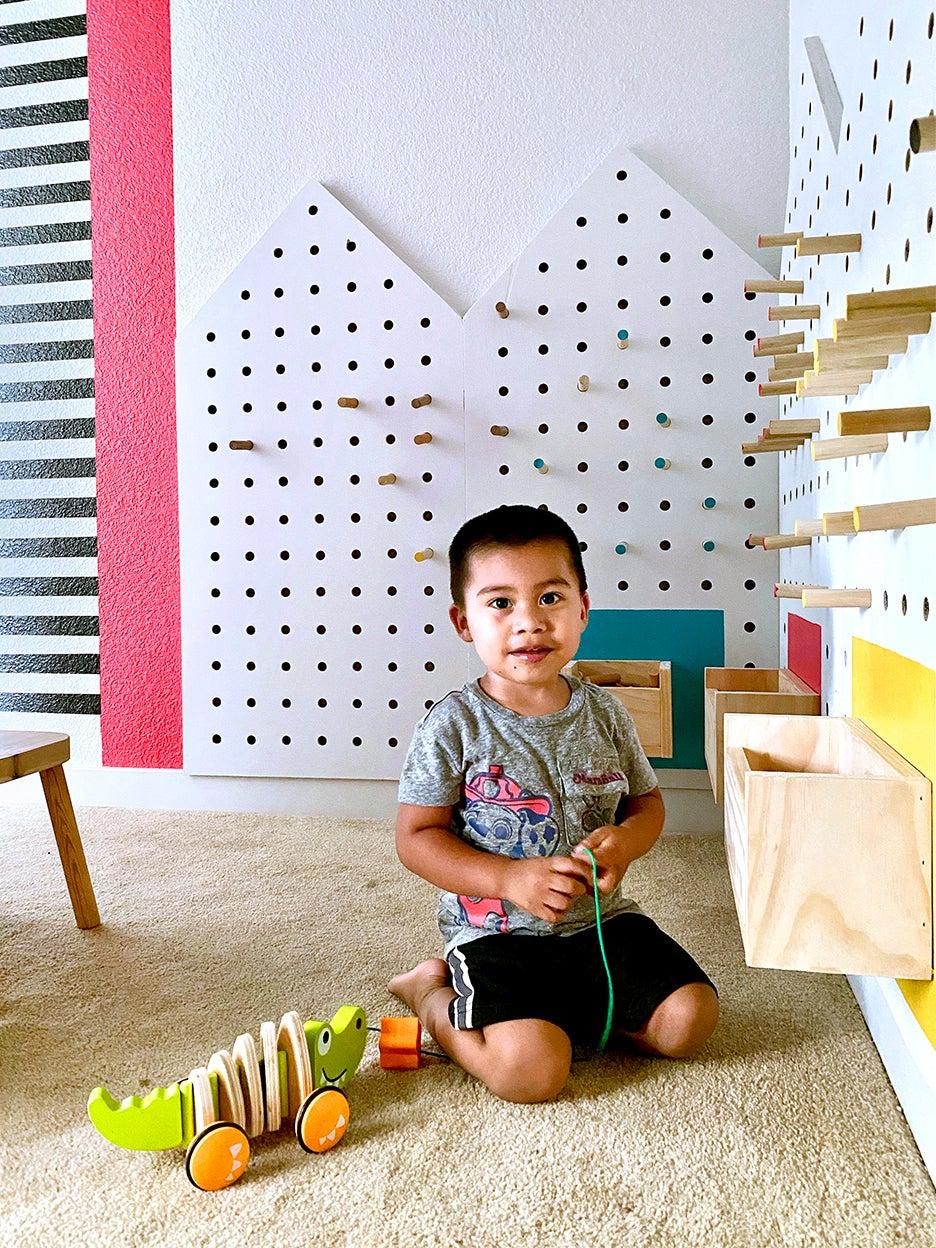 Pegboard playhouses DIY