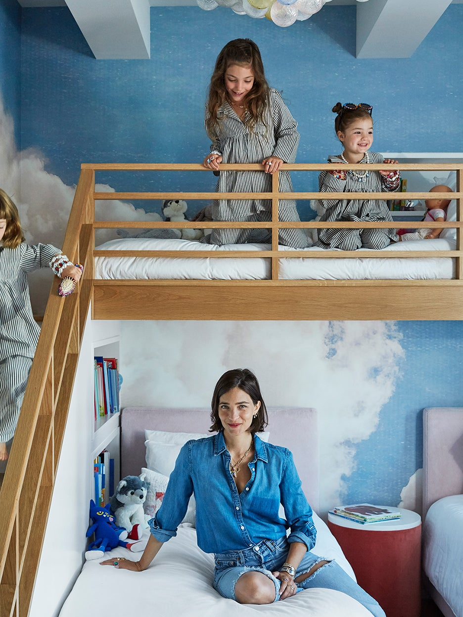 Cloud-Painted Walls and a Kid-Proof Breakfast Nook Make This Home a Playhouse