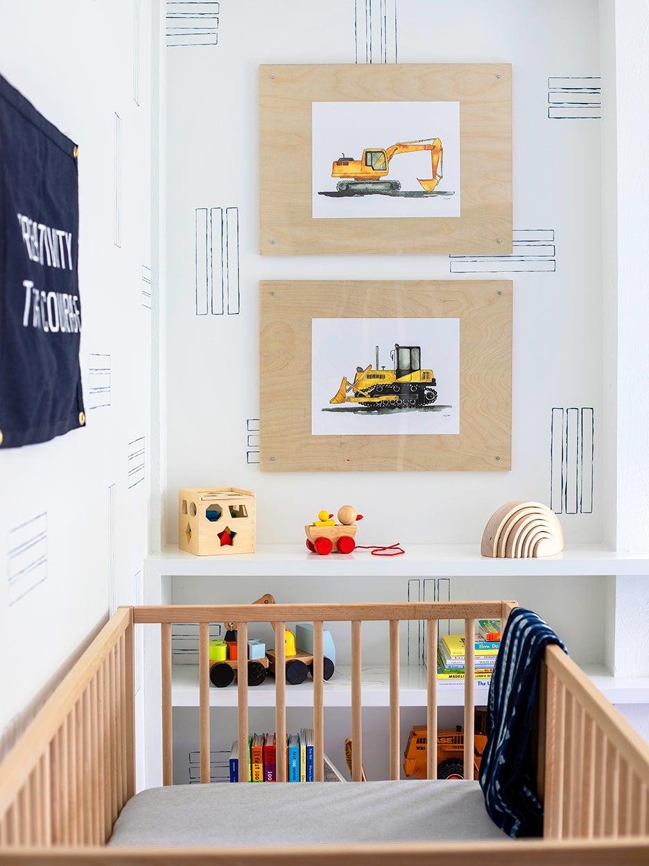 Paint tape DIY in nursery