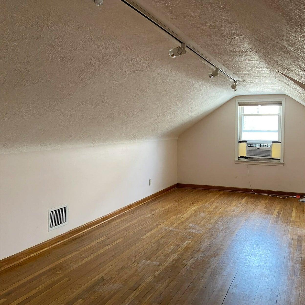 bland attic room