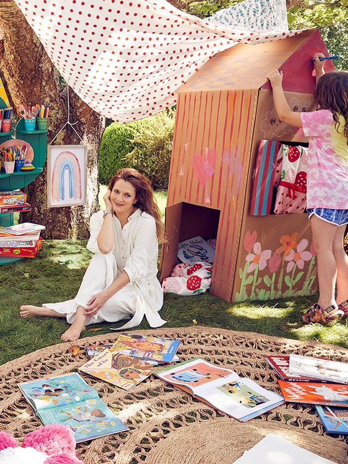 Make Like Drew Barrymore and Build a Wonder-Filled Backyard Fort—Inside