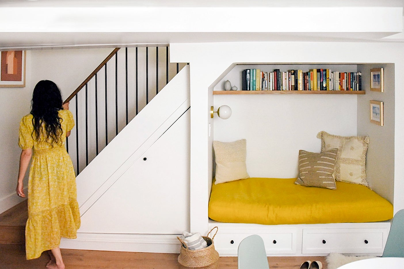 How This Laminate-Clad Basement Went From Eyesore to Bright Family Hangout