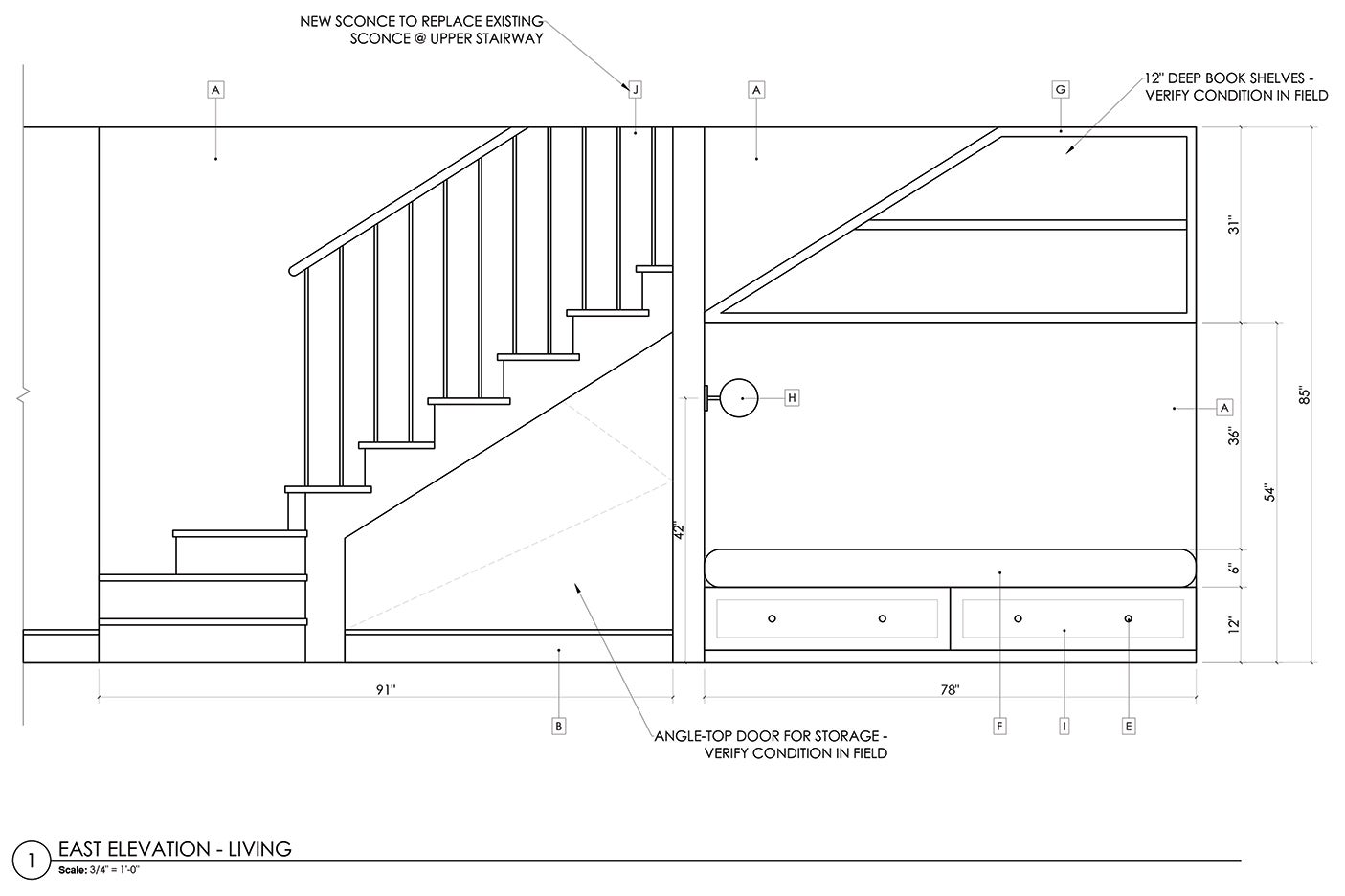 blueprint of stairs