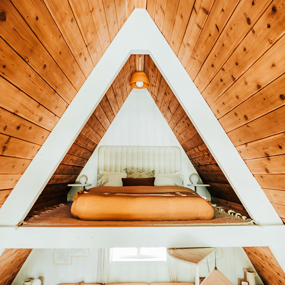 A-frame bedroom