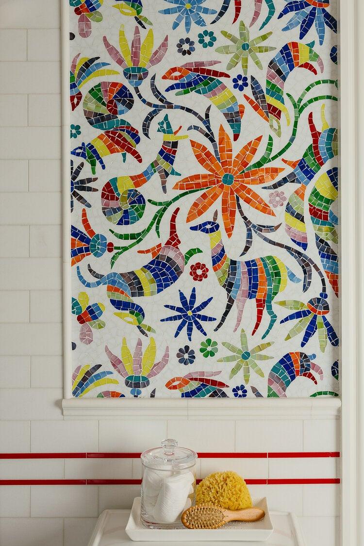 Otomi mosaic tile detail
