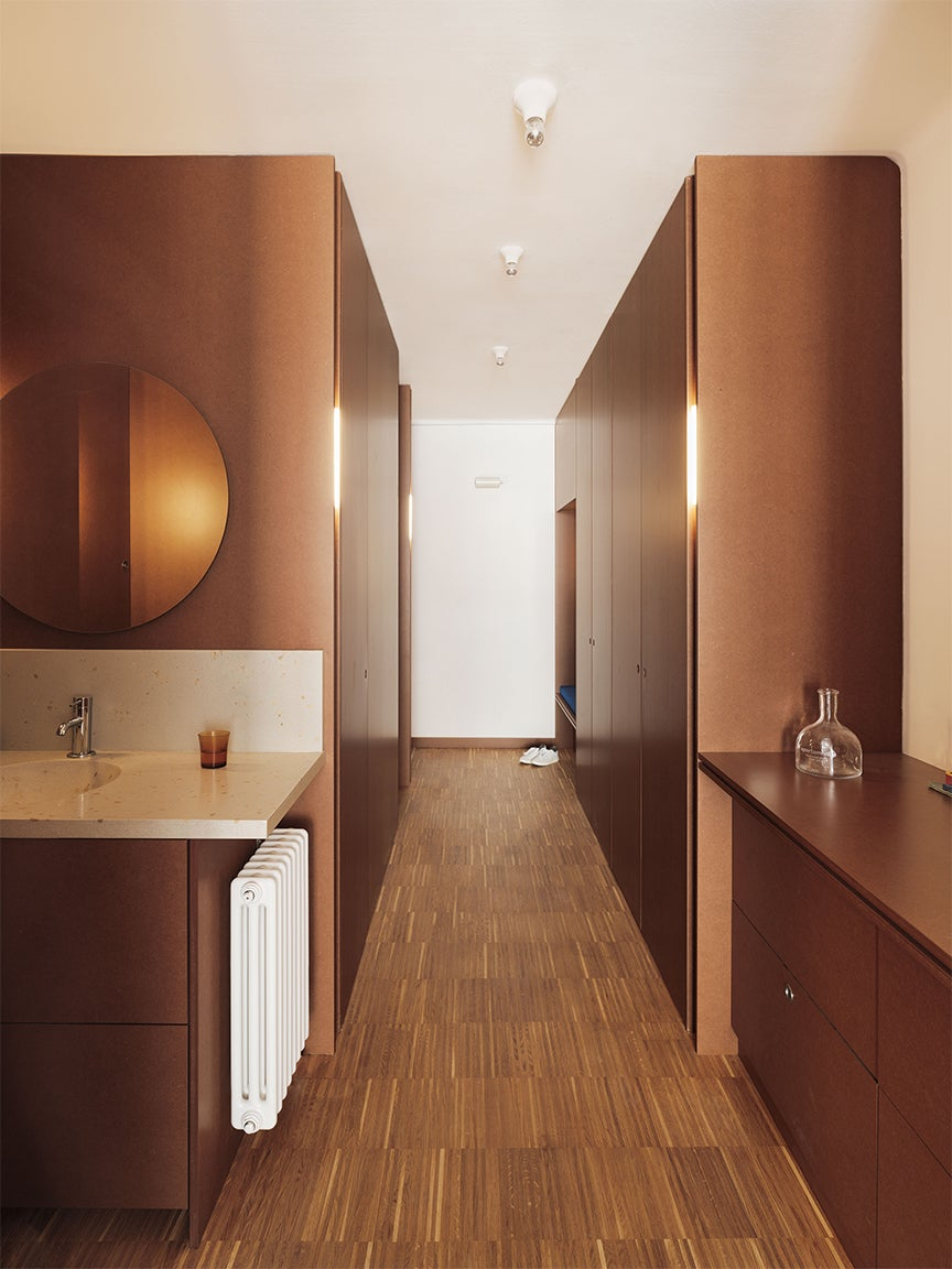 long brown hallway