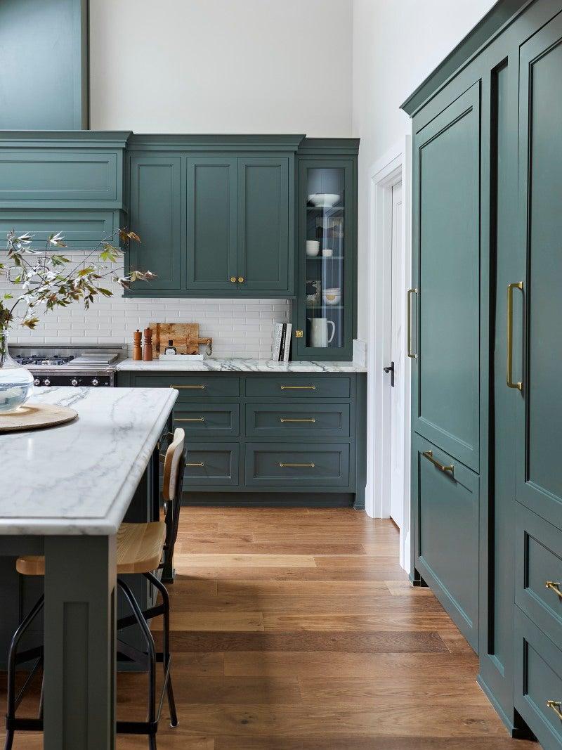 big green kitchen
