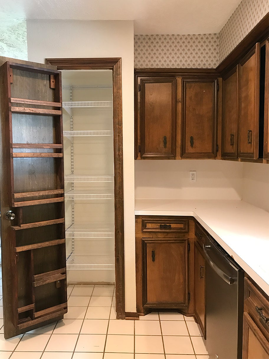 old pantry with shelves