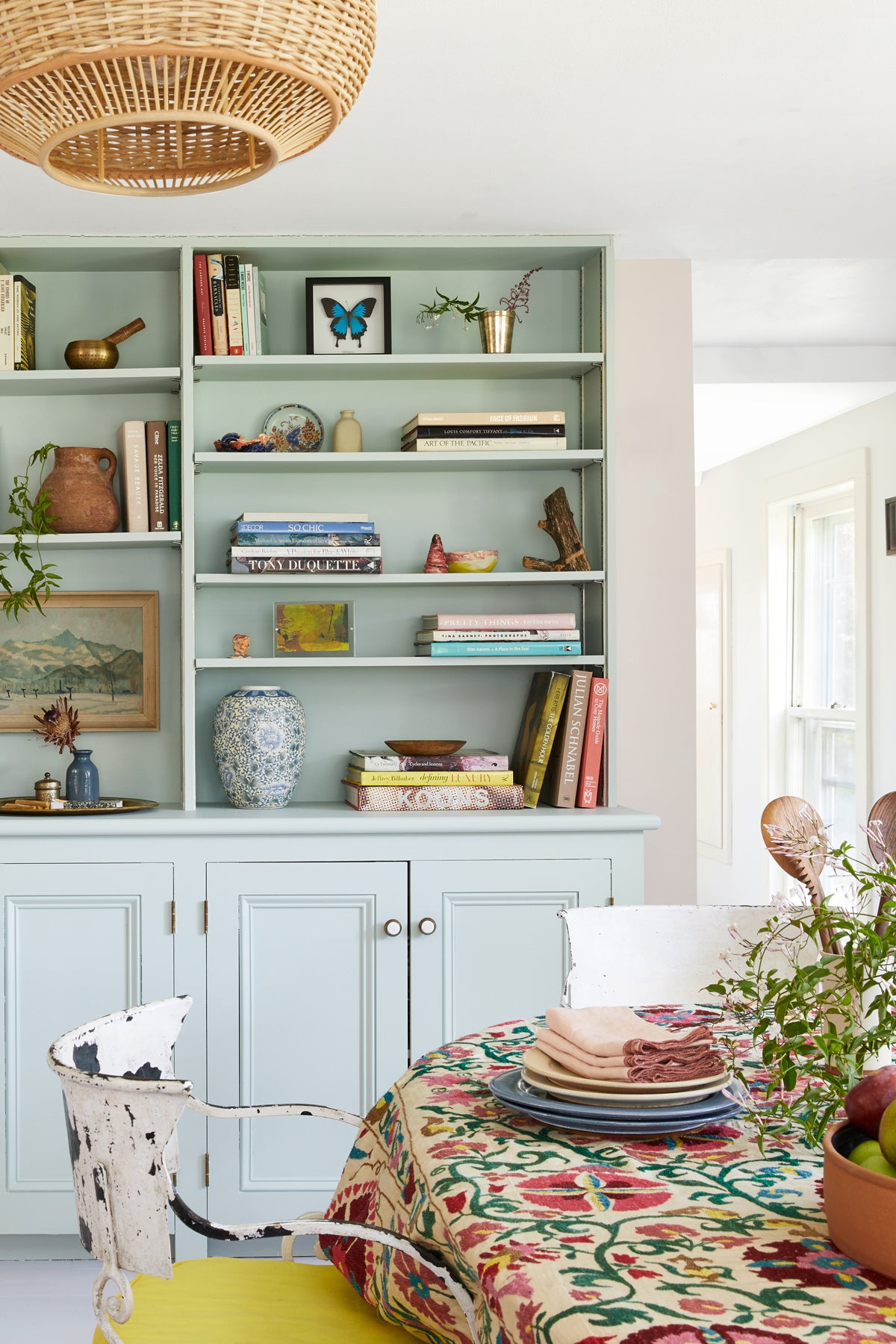 Pink Walls, Green Built-Ins: Inside a Hudson Valley Cottage Beaming With Color