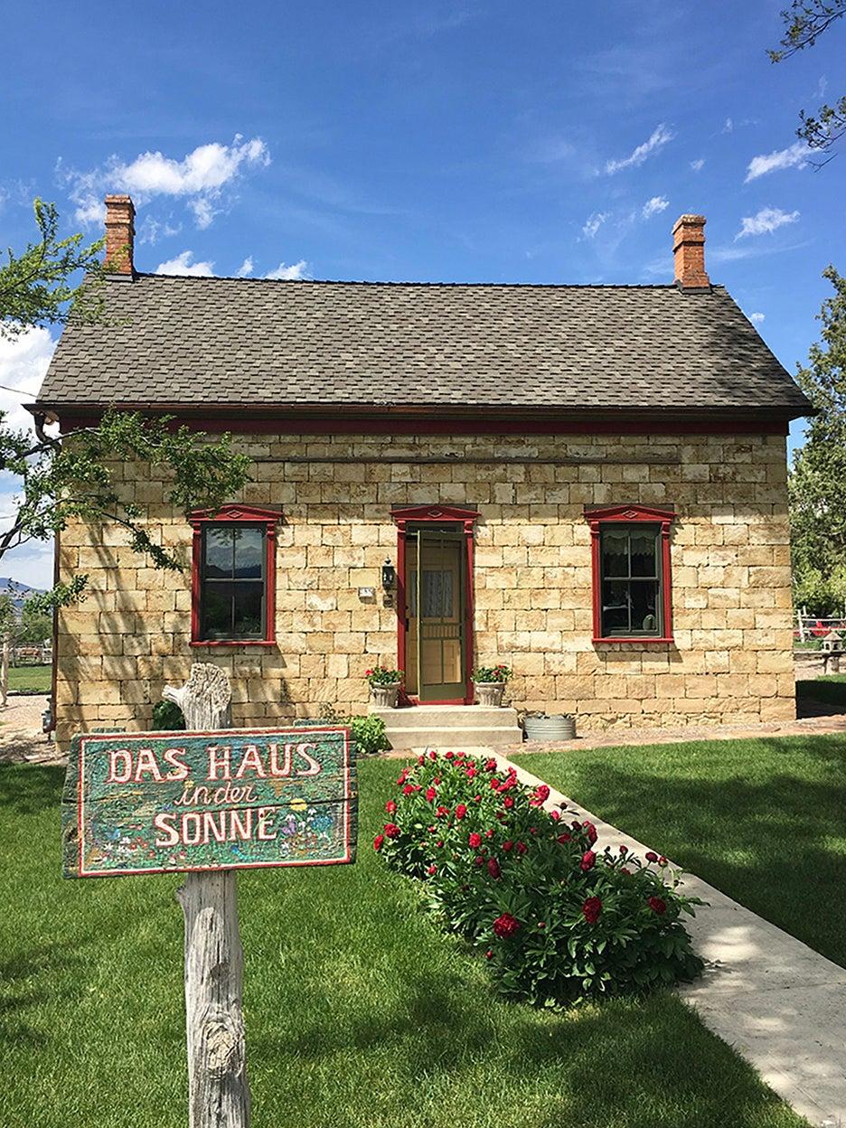 Danish Pioneer house in Spring City Utah