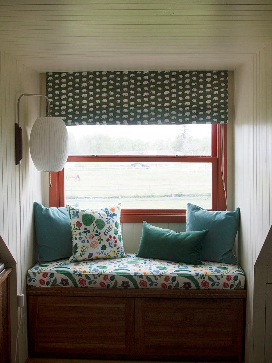 Window nook in Josef Frank fabric