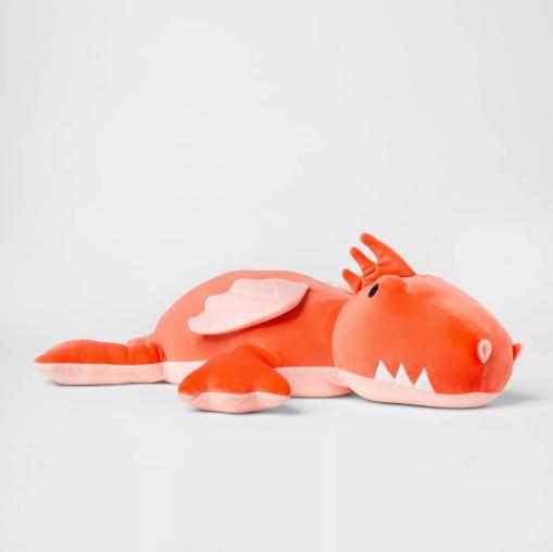 orange stuffed dragon