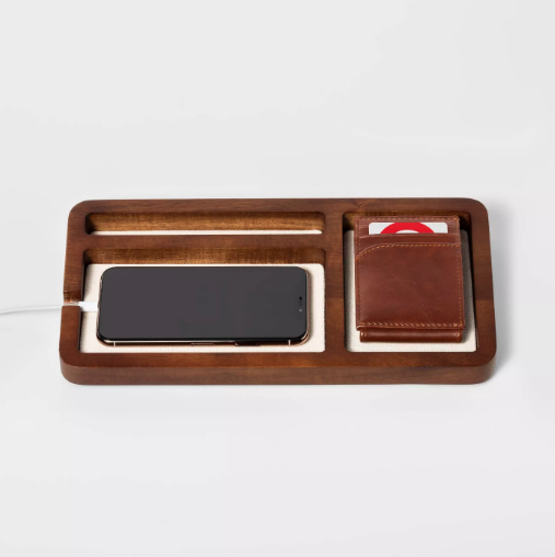 tray with phone