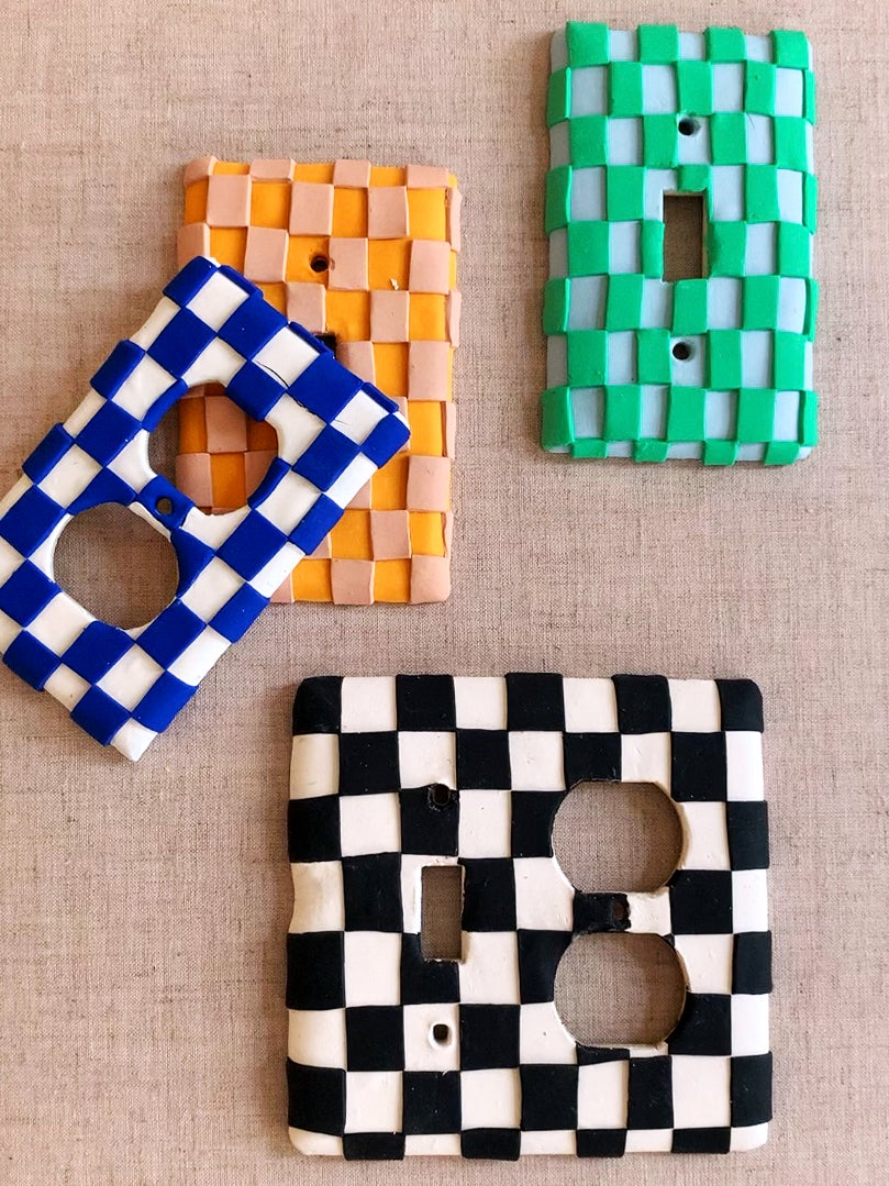 checkered oulets and light switch covers
