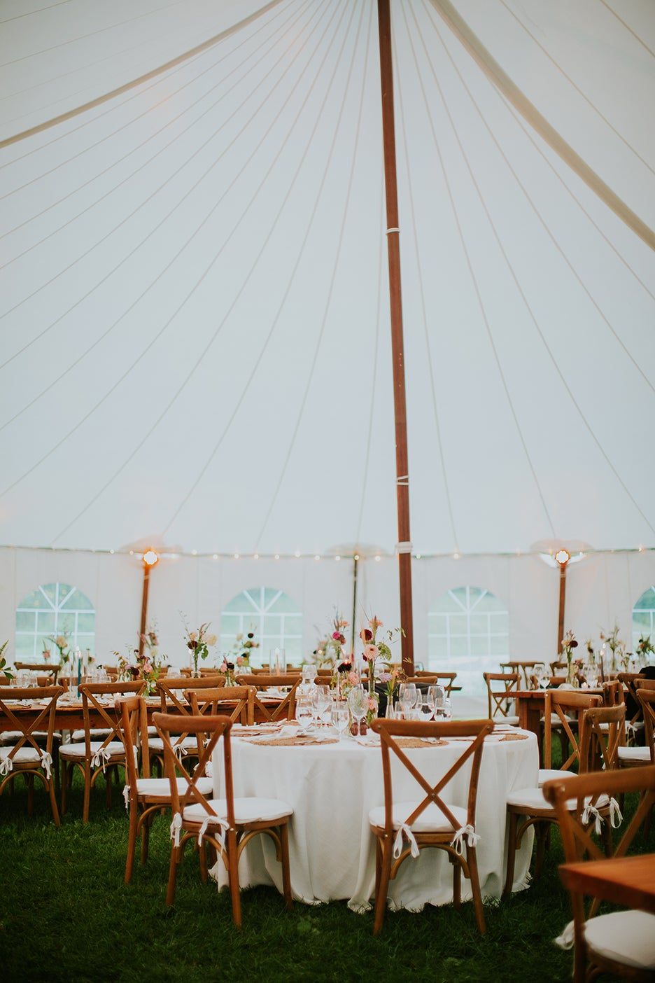Dining room under a tent
