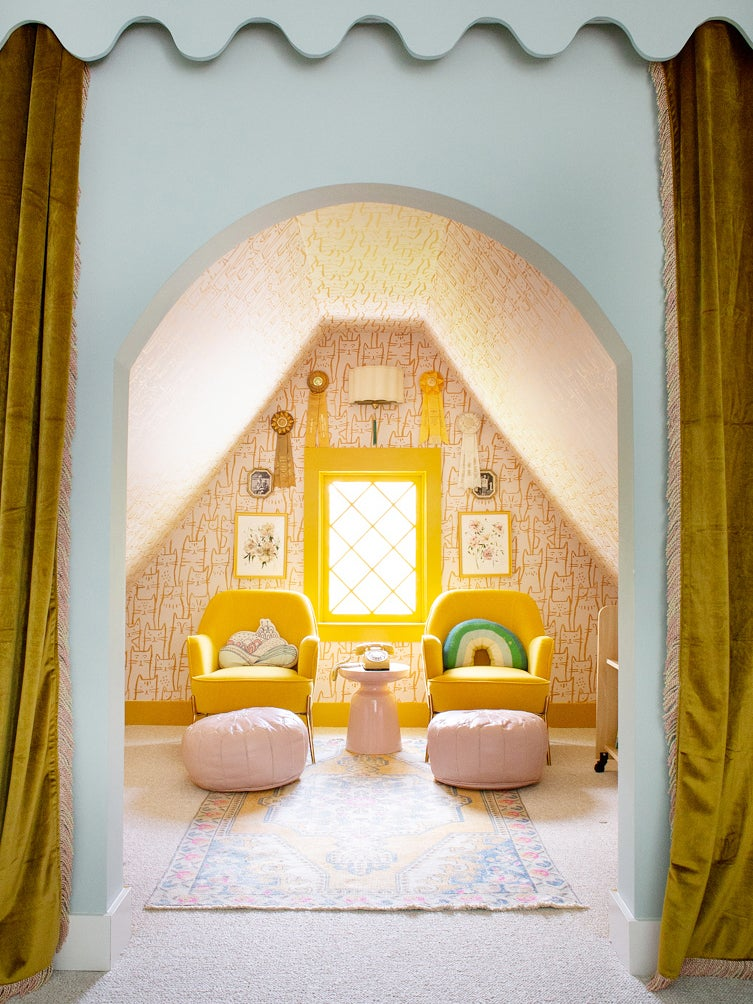 A Closet–Turned–Kids' Reading Nook Straight Out of Wes Anderson's Mind