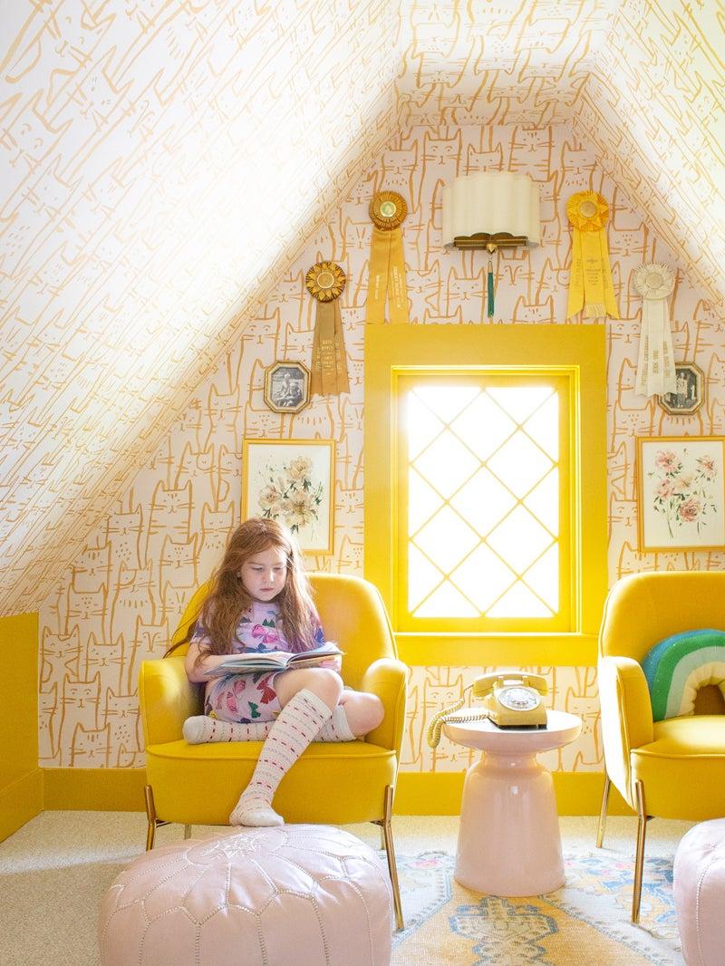 Yellow kids playroom