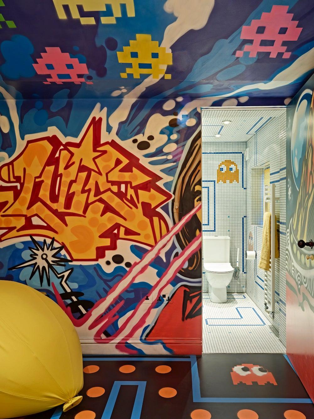 graffiti game room walls