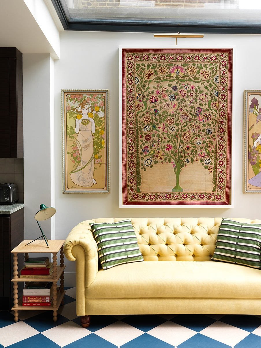 chic yellow sofa