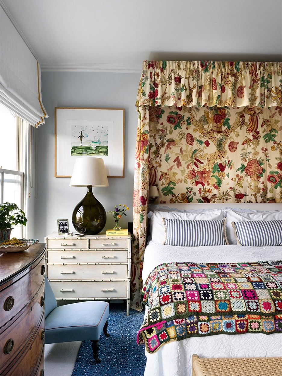 patterned bed frame