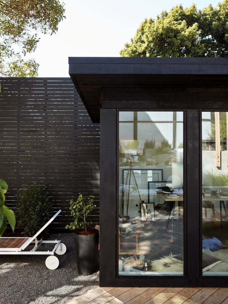 Shou Sugi Ban Home Office Exterior