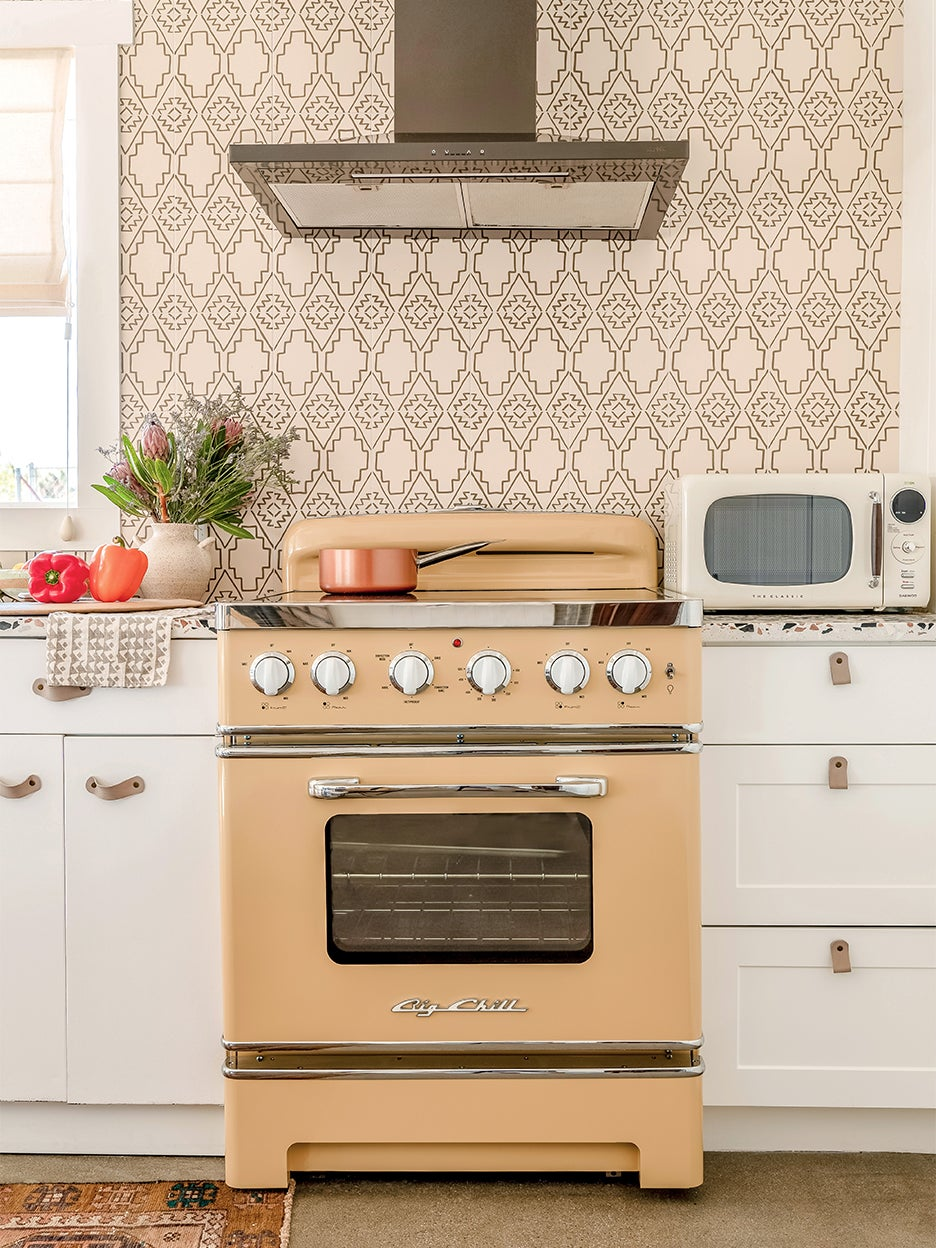 nude colored oven