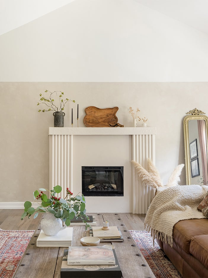 white fireplace with tubes