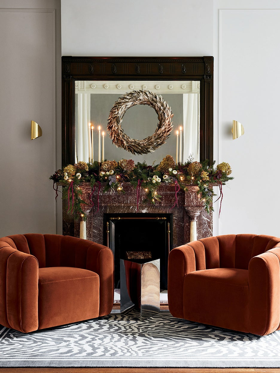 This Unexpected Material Is the Star of 2020's Holiday Wreaths